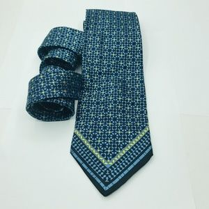 Vintage Versace Mens Silk Tie Blue 3.5 x 59″
